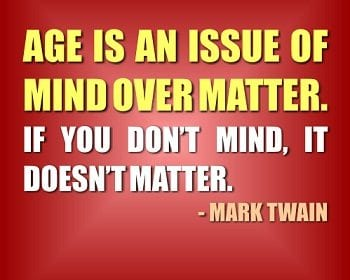ageing is mind over matter