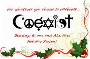coexist happy holidays