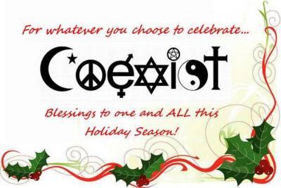 coexist happy holiday season
