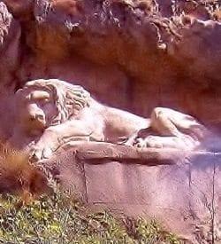 bavarian lion closeup