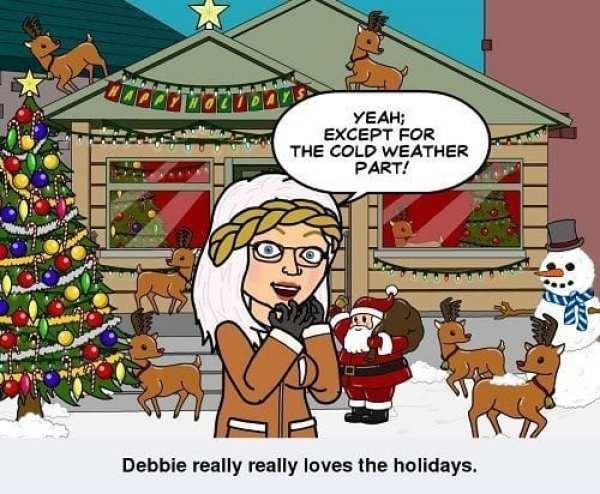 debbie loves the holiday season