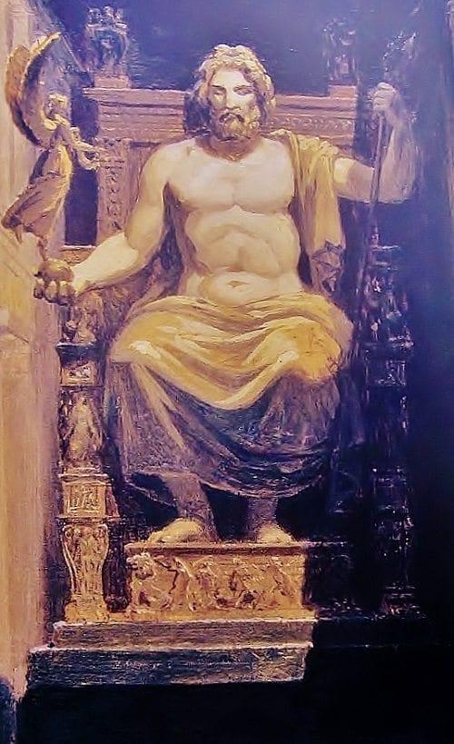 painting of Zeus