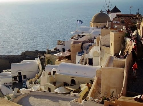 Oia waiting for sunset