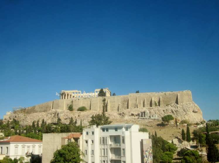 The Acropolis, atop the city of Athens