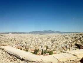 City view of Athens, from atop the Parthenon