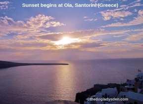 Sunset begins, Oia Santorini | #TopTenThursday #Blogfest