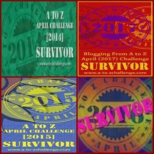 #AtoZChallenge Survivor, 2014-2017