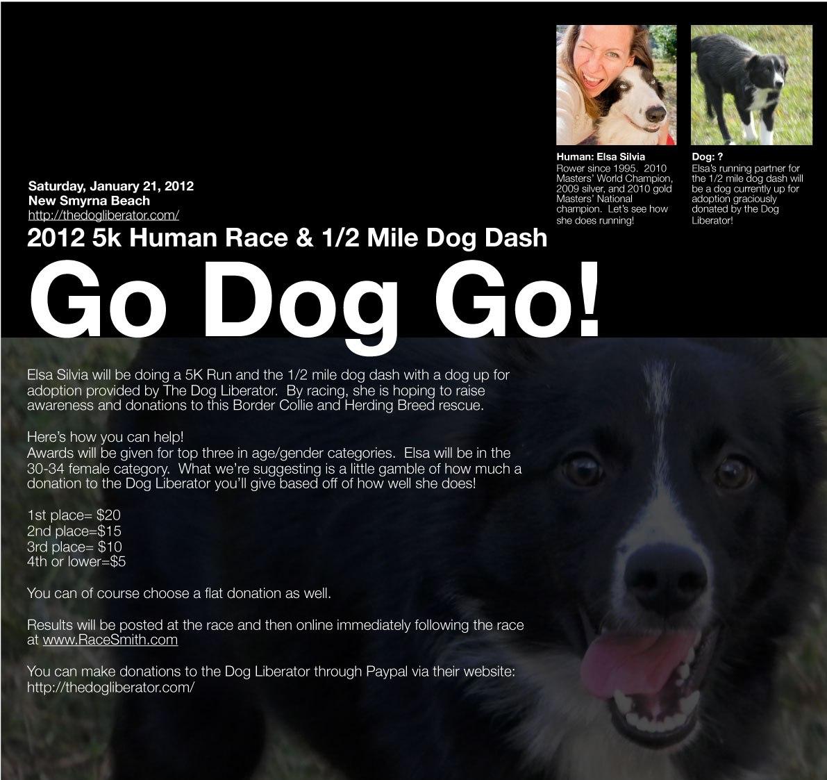2012 5K Human Race & 1/2 Mile Dog Dash with Elsa Silvia