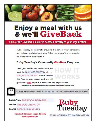 Ruby Tuesday's Give Back