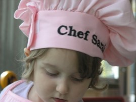 Chef Sarah at Three!