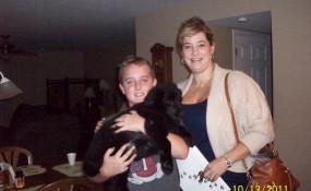 2011 Sheila adopts Samson