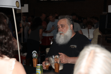 Bill Moore from Lancaster Brewing chats with some festival goers.