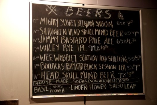 The Board at KBC. They Even Have Their Own Soda.