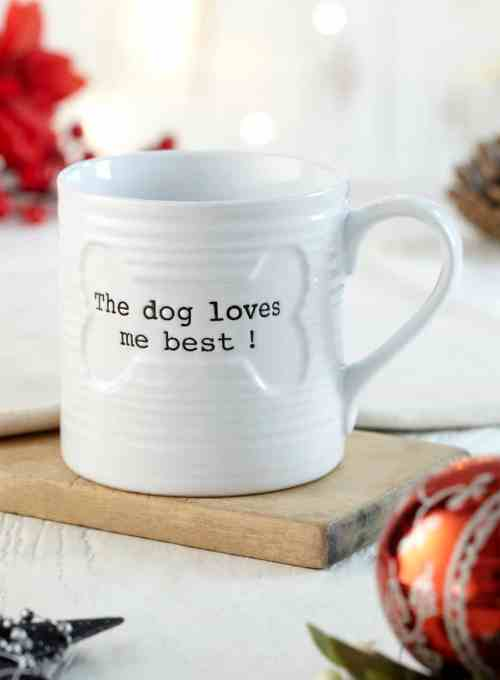 The Dogvine 10 Christmas Gifts for Dog Owners - The Dog Loves Me Best Mug