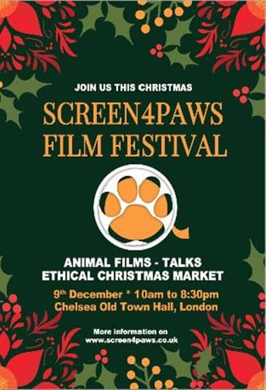December 2017 Events Agenda For London Dogs - Screen4Paws Film Festival
