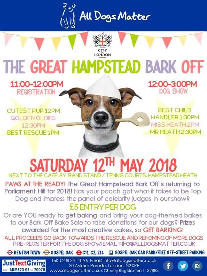 London Dog Shows - All Dogs Matter Great Hampstead Bark Off 2018