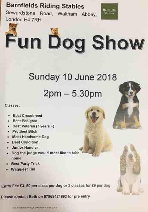 London Dog Events - Barnfields Fun Dog Show 2018