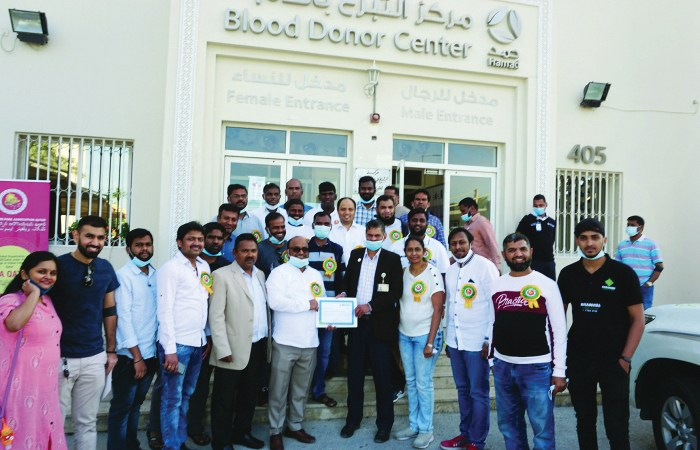 Telangana Welfare Association-Qatar holds blood donation camp