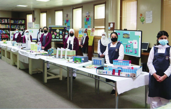 Pak Shama School exhibition highlights healthcare in Qatar