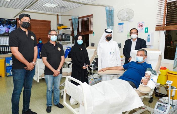 Indian ambassador donates blood; ICBF, BDK organise blood donation drive