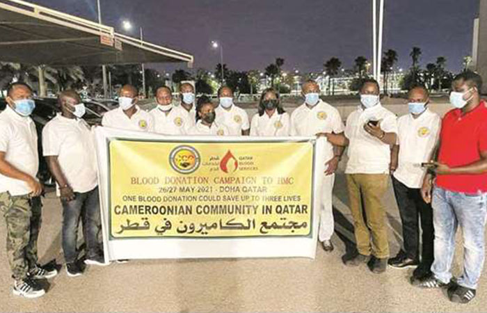 Cameroonian Community in Qatar holds blood donation drive
