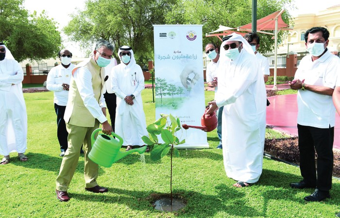 Indian Cultural Centre plants 75 trees across Qatar