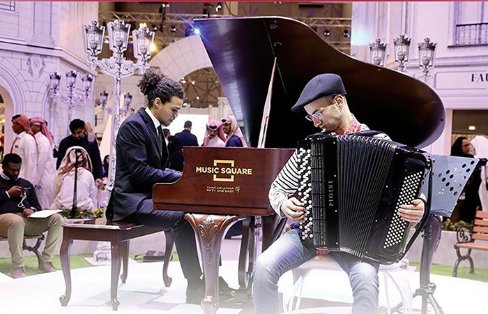 The Music Affairs Center of the Ministry of Culture and Sports  performs in public places