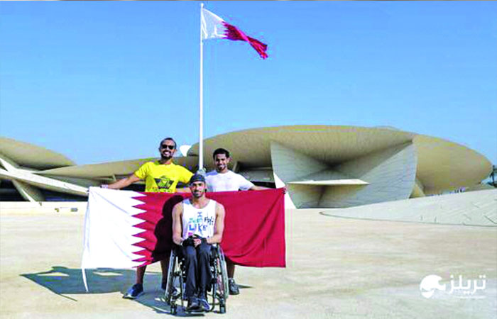 204 km in 41 hours in a wheelchair across Qatar; Al Shahrani sets a record