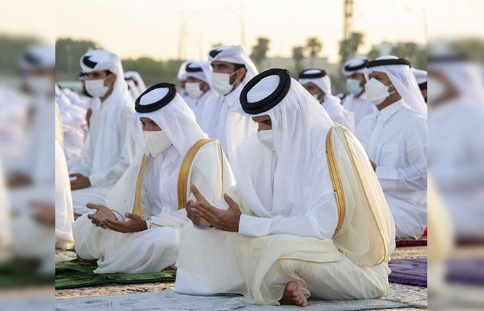 Amir performs Eid Al-Adha prayer
