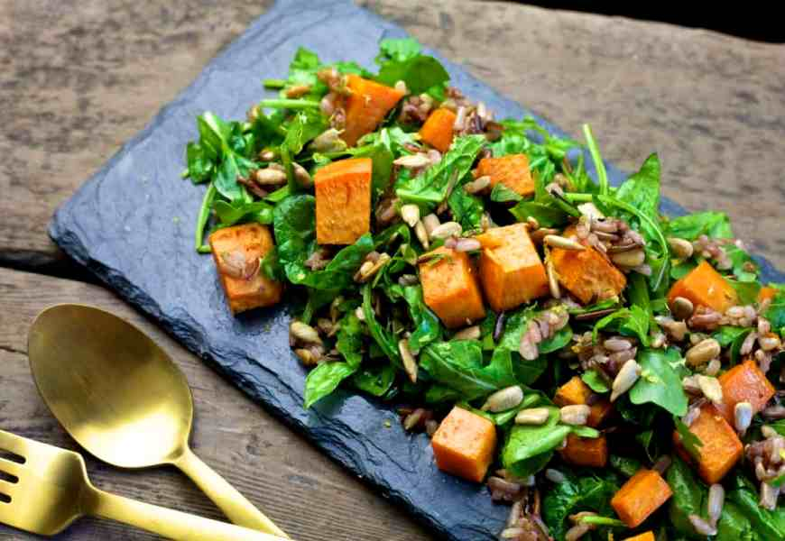Fall Roasted Sweet Potato Salad The Domestic Dietitian