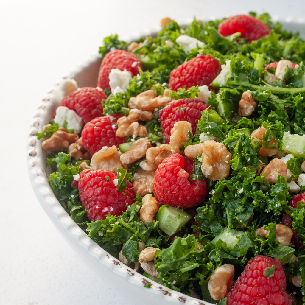vibrant raspberry walnut salad recipe