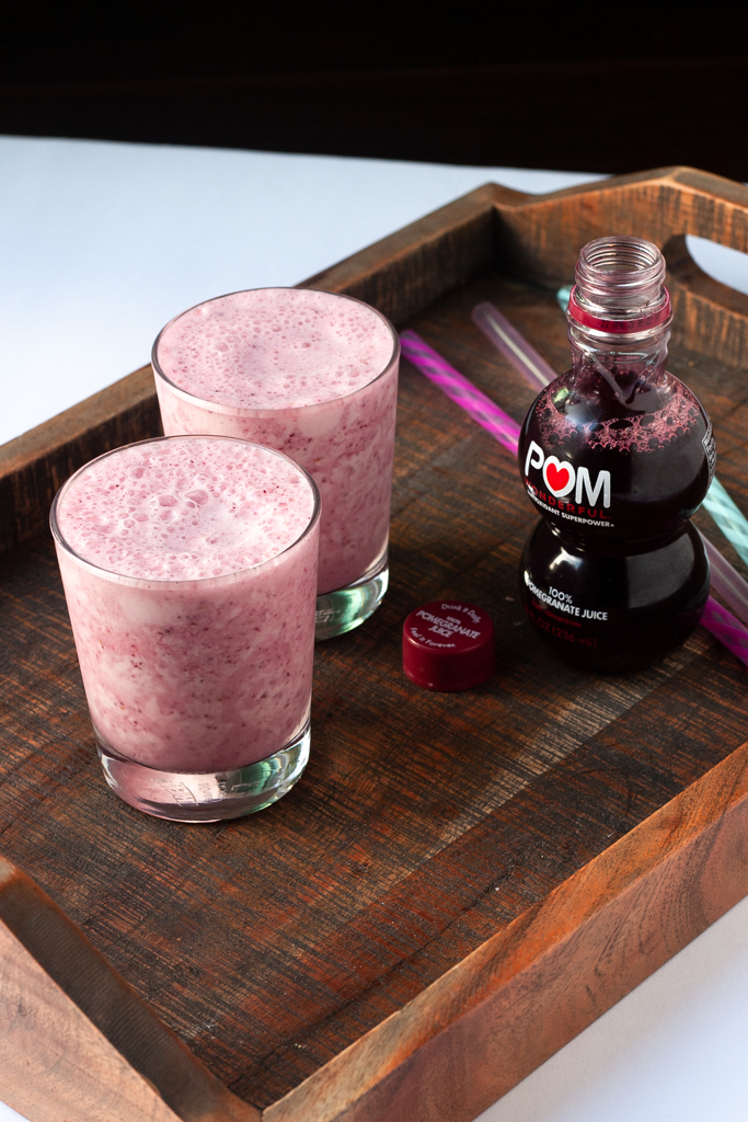 Chia Pomegranate Smoothie Recipe long