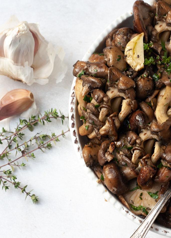 garlic and herb sautéed mushrooms recipe