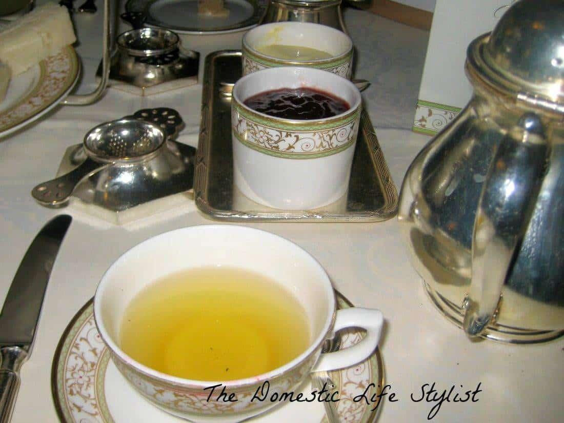 jam, tea in english china