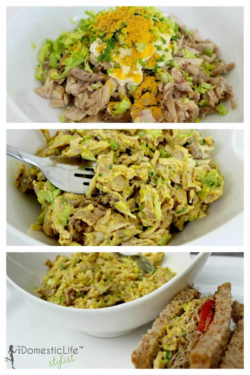 Curry Chicken Salad Collage