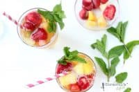 pineapple ginger cooler drink using pineapple peel