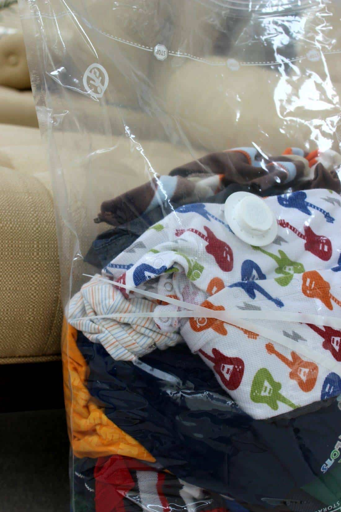 baby clothes in spacebag