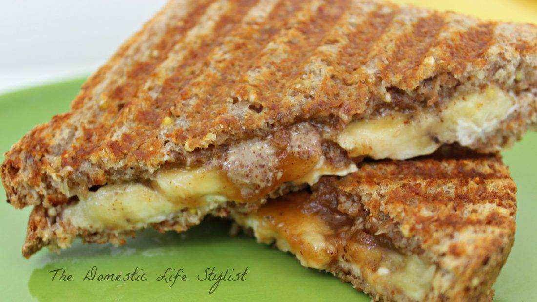 Almond & Apple butter banana sandwich