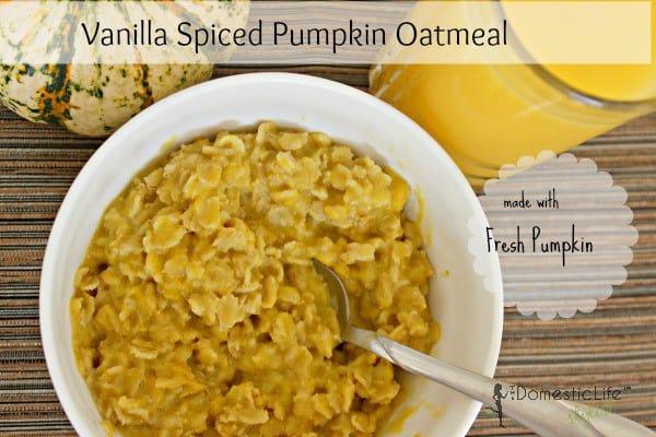 Vanilla Spice Pumpkin Oatmeal