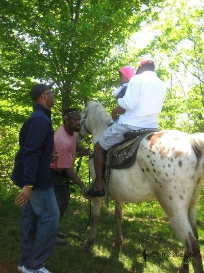 Hourseback riding, father daughter activities