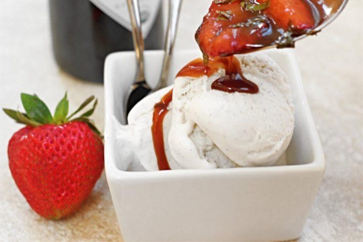 Strawberry-Basil Dessert Topping