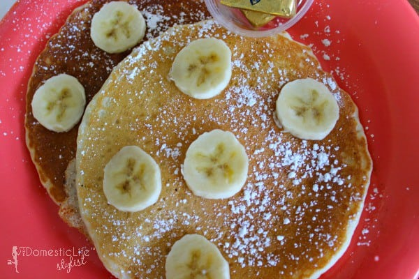 Banana pancakes at the Delly Deck in St. Thomas