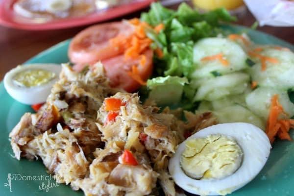 saltfish breakfast in St. Thomas