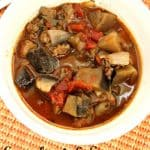 eggplant and sausage stew