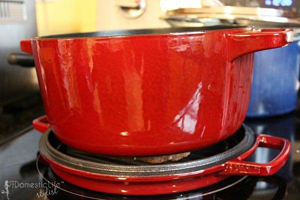 kitchen aid cast iron pot