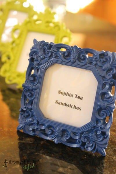 Sophia tea sandwiches