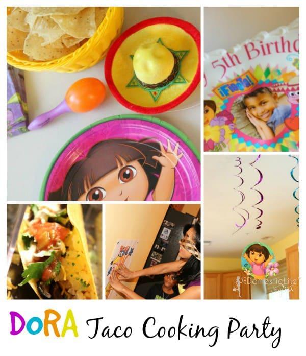 Dora cooking taco birthday party