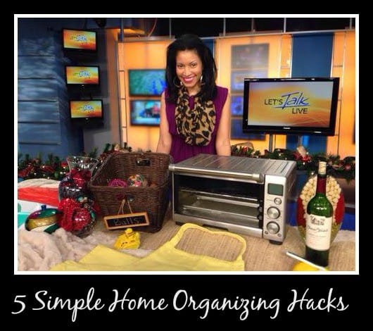 home organizing tips let's talk live tv
