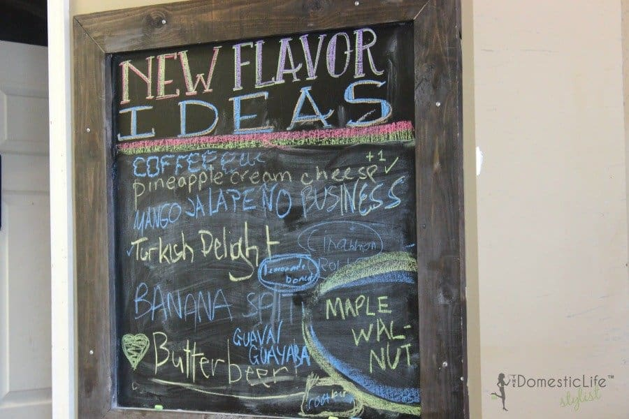sugar shack flavor ideas board