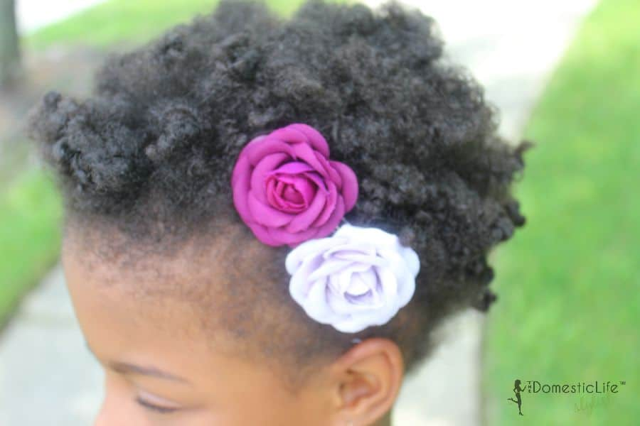 girls flower hair clips